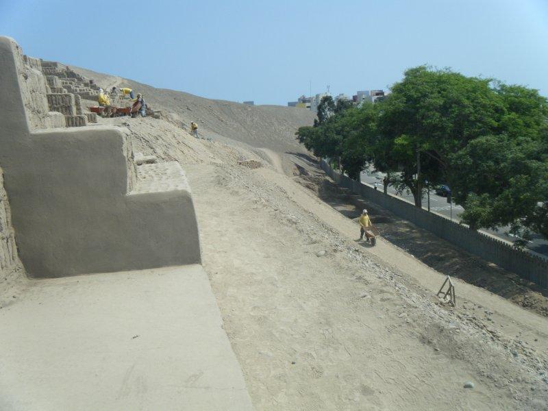 Huaca Pucllana Excavations and Restoration