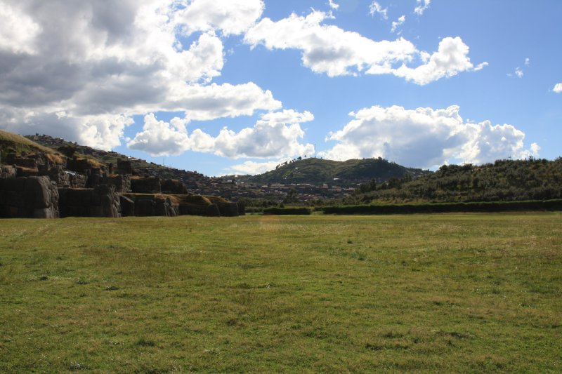 Field at Sacsayhuaman where the armies were paraded before the Incan king