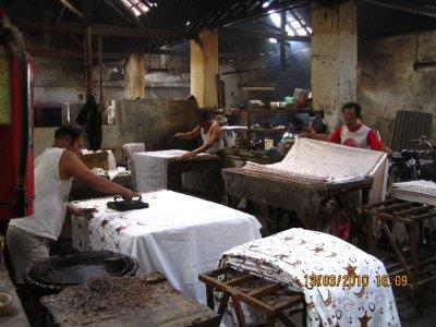 The printed batik