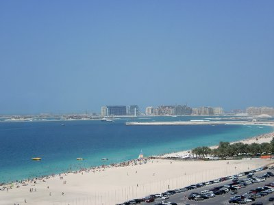 View from Jumeirah Beach Residence, the apartment I was staying in
