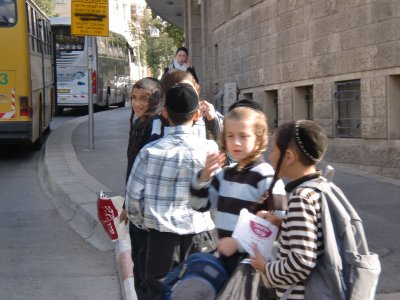 Jewish kids in Jerusalem