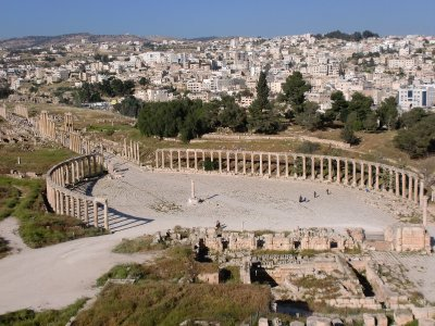 Oval Plaza in Jerash