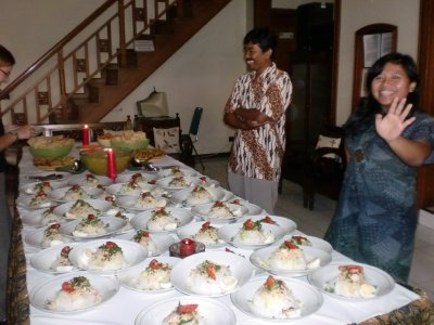 indonesian food prepared @ Alam Bahasa, the Indonesian language school