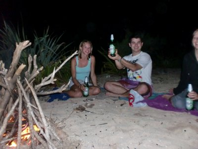 camp fire @ Sundak beach