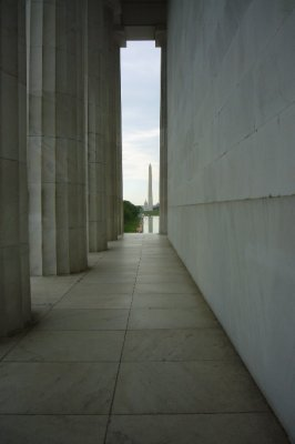 The Washington Monument viewed from the Lincoln Memorial 4.24.2010
