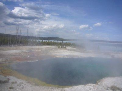 West Thumb Geyser Basin Yellowstone  May 17, 2010