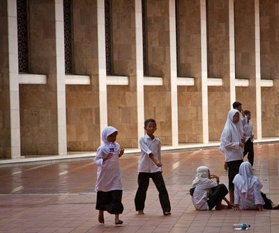 Students at the Mosque