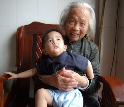 Lucas with Great Grandmother