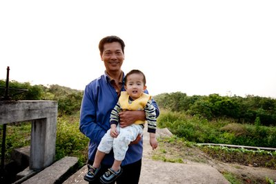 Lucas with Grandfather Liu