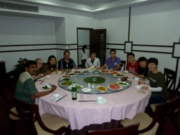 Dinner time with the Earthwatch team