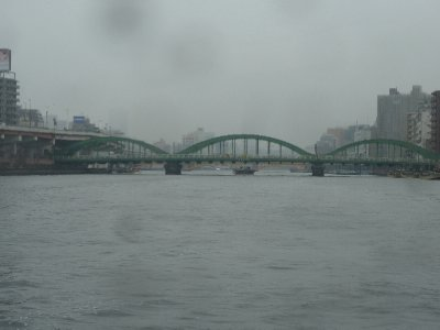 Cold and wet on the Sumida river