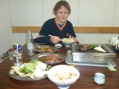 In the favourite yakiniku restaurant