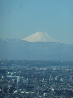 Fujiyama seen for the first time in 3 years