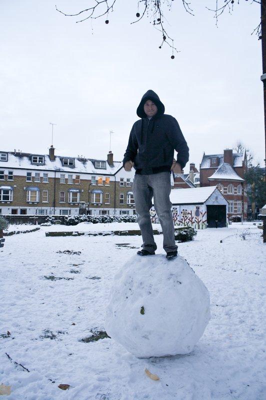 Mark in snow