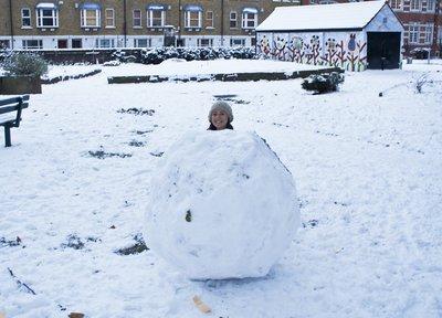 Mel and snowball