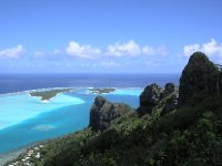 Blick auf die Passage von Maupiti ins offene Meer