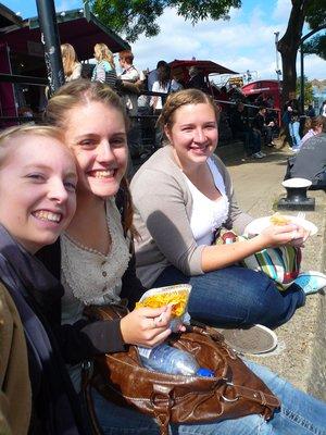 Lindsay, Emily, and Kelsey at Camden Village Market