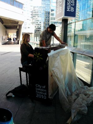 One of the 32 pianos