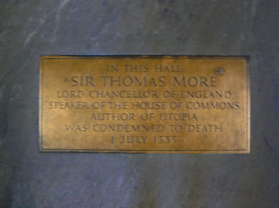 In the floor of Westminster Hall