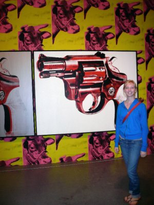 Me and Andy Warhol art