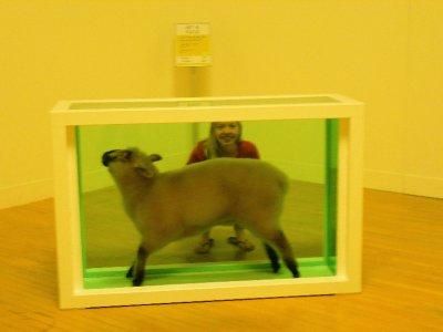 Me and a sheep. Art?