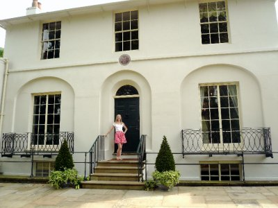 Me at the Keats House!