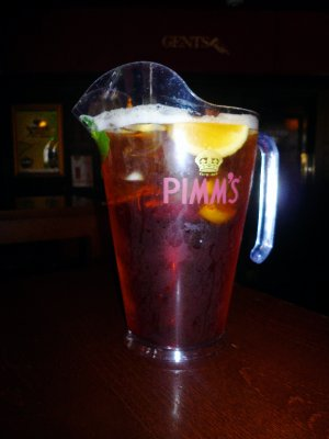 Pitcher of Pimms!