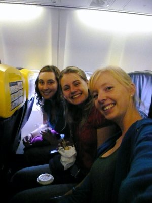 On our Ryanair Flight!