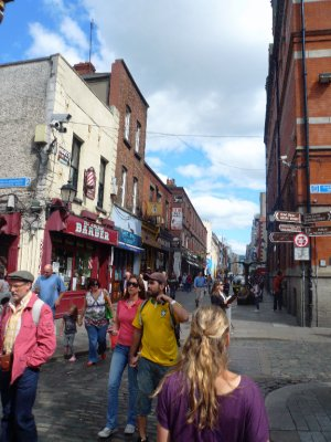 Walking down O'Connell Street