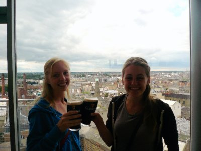 In the Gravity Bar at the Guinness Storehouse