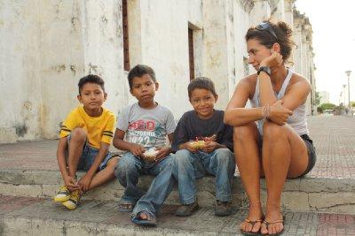 Niños en las calles de León