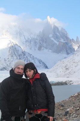 Posing in front of Cerro Torre