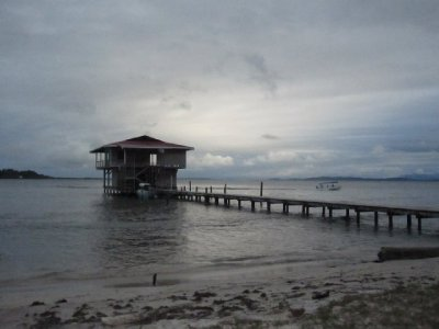 Houses built on stilts in the water was very common in Bocas