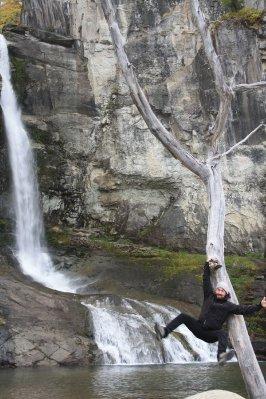 Monkey man in Chorrillo del Salto waterfall