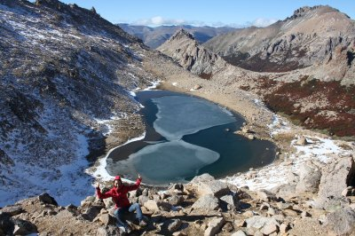 From the top....the icy lake!