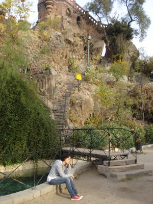 In a park in Santiago
