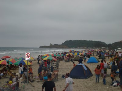 Looked like a festival during the bankholliday, people camping on the beach, bon fires etc