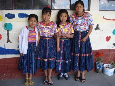 Some of the girls in their traditional clothing