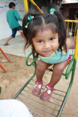Many of the kids have American name...this cute little girl is named Brittney