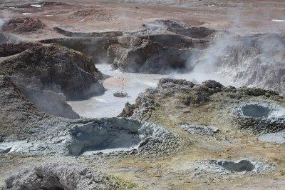 Muddy bubbling lava...