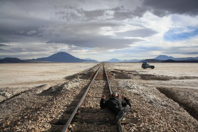 Railtracks in the middle of the desert.