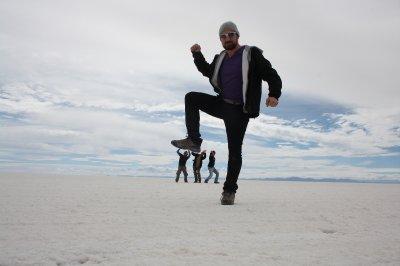 Gullivers trip to Salt  desert