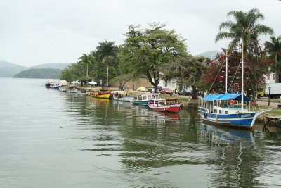 Colorful boats in Parati
