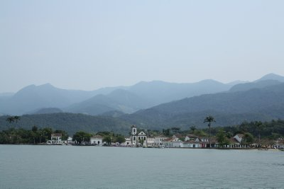 View of Parati from the boat