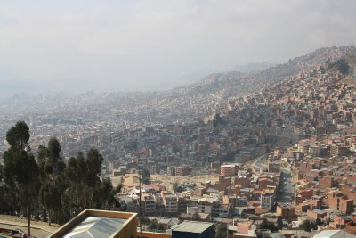 View down on La Paz from El Alto