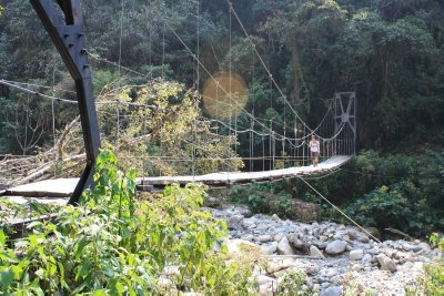 Hanging bridge along the way