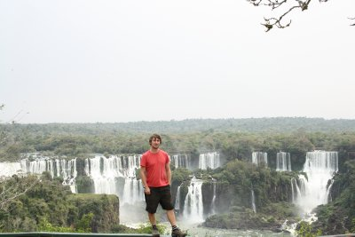View of the smaller falls from the Brazilian side...