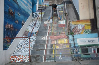 One of the painted staircases