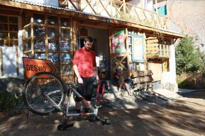 Laura´s bike being fixed