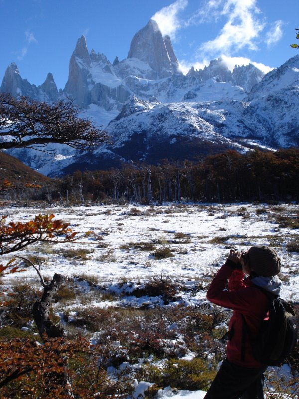 Admiring the Fitz Roy